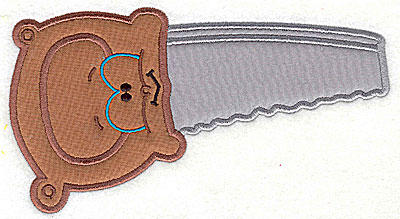 Embroidery Design: Funny Tool Saw double applique 6.76w X 3.70h
