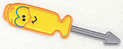 Embroidery Design: Funny Tool Screwdriver double applique 6.73w X 2.41h