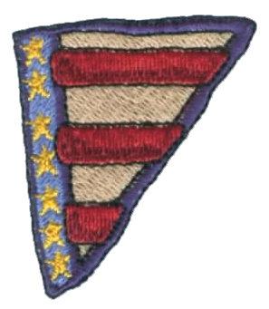 "Embroidery Design: Flag Corner1.81"" x 2.02"""