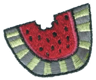 """Embroidery Design: Chunk of Watermelon2.06"""" x 1.77"""""""
