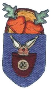 "Embroidery Design: Pocket Pal Bunny & Carrots2.15"" x 3.81"""
