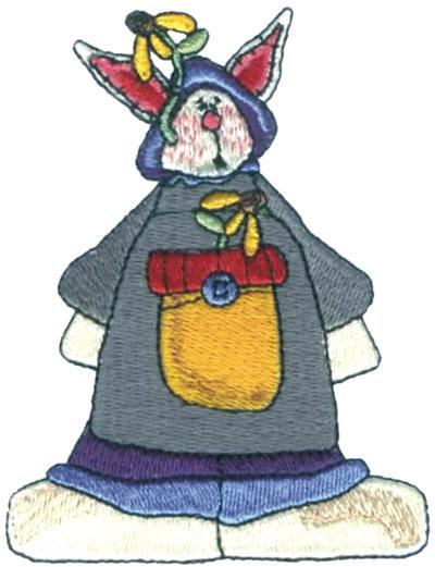 "Embroidery Design: Cute Bunny2.95"" x 3.84"""