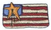 "Embroidery Design: Americana Flag2.19"" x 1.21"""