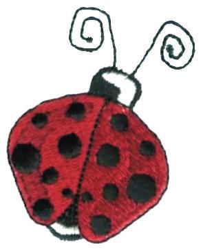 """Embroidery Design: Ladybug/Ladybird1.76"""" x 2.25"""""""