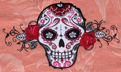 Embroidery Design: Sugar Skull11.7w X 6.93h