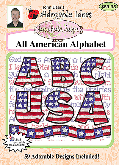 Embroidery Design: All American Alphabet