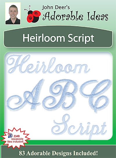 Embroidery Design: Heirloom Script
