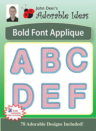 Embroidery Design: Bold Font Applique