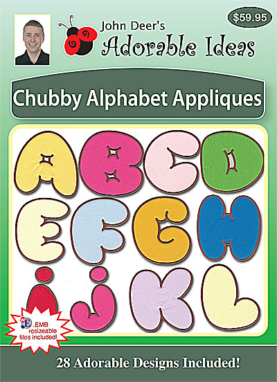 Embroidery Design: Chubby Alphabet Appliques
