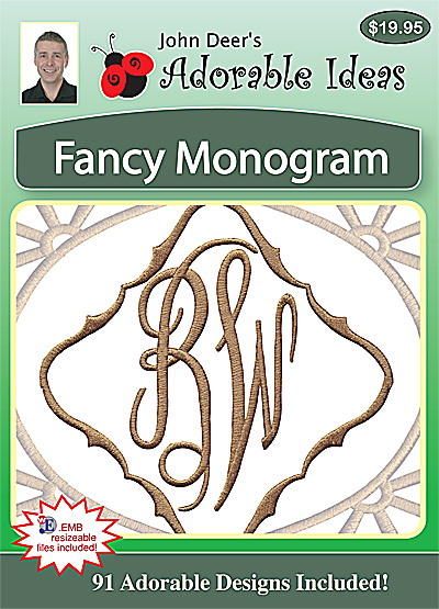 Embroidery Design: Fancy Monogram