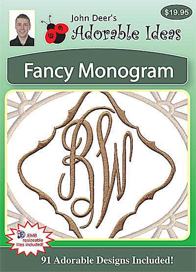 Embroidery Design: Fancy Monogram