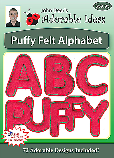 Embroidery Design: Puffy Felt Alphabet