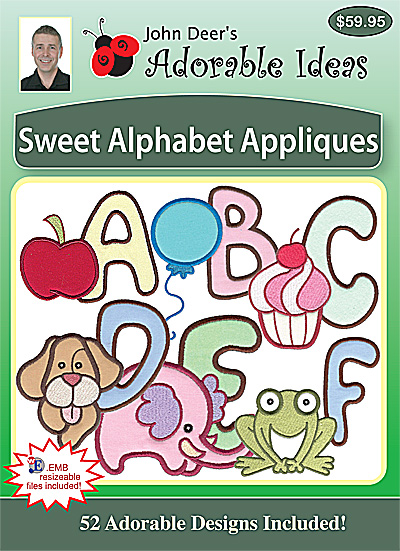 Embroidery Design: Sweet Alphabet Appliques