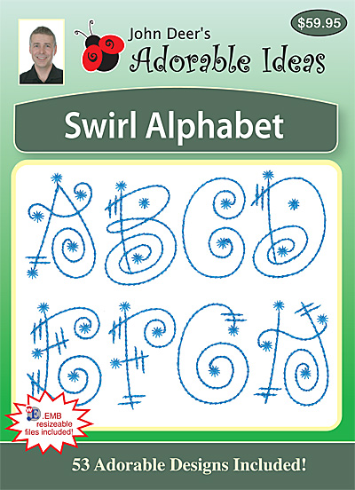 Embroidery Design: Swirl Alphabet