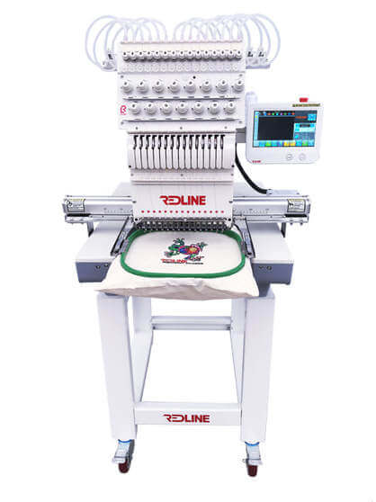 Redline Embroidery Machine Front View