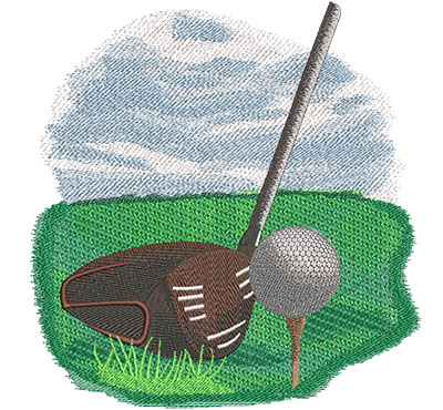 tee up embroidery design