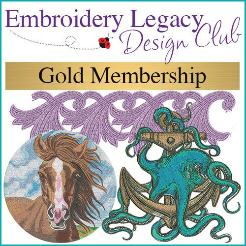 Gold Embroidery Design Club