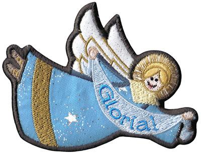 gloria angel ornament embroidery design