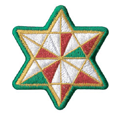 star ornament embroidery design