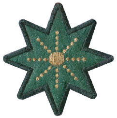 shining star ornament embroidery design
