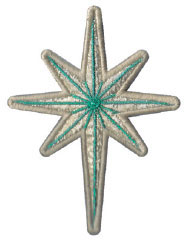 bright star ornament embroidery design