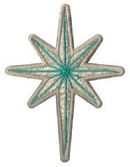 bright star ornament embroidery design