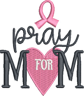 cancer awareness embroidery design