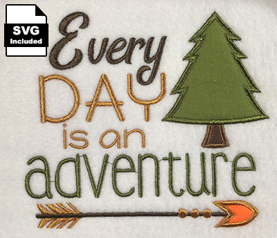 every day adventure applique embroidery design