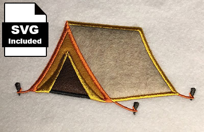 tent applique embroidery design