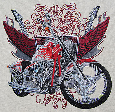 Custom Chopper embroidery design