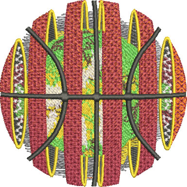 solar basketball embroidery design