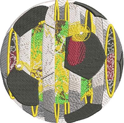 solar soccer embroidery design