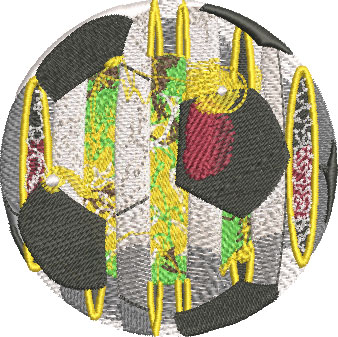 solar soccer ball embroidery design