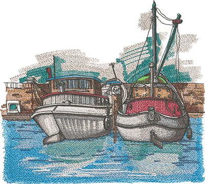 Embroidery Art Harbour embroidery design