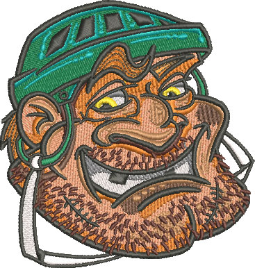 hockey goon embroidery design