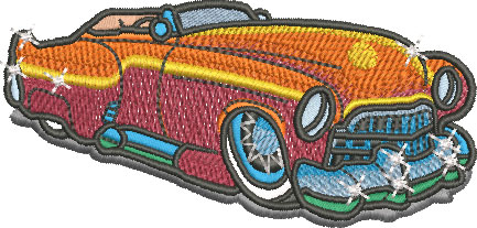 daddy caddie car embroidery design