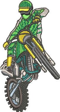 motocross jump embroidery design