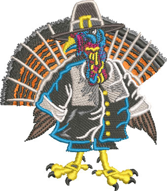turkey pilgrim embroidery design