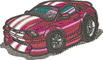 mustang car embroidery design