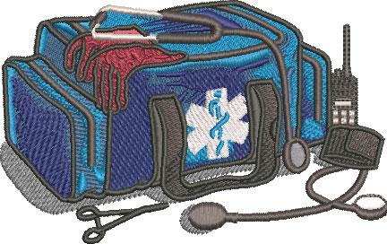 EMT equipment embroidery design