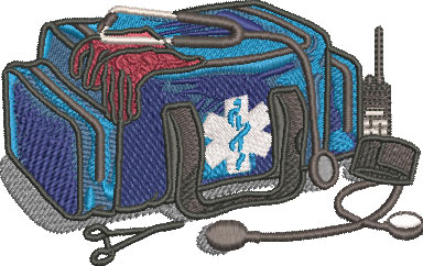 EMT equipment embroidery design