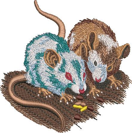 pet mice embroidery design