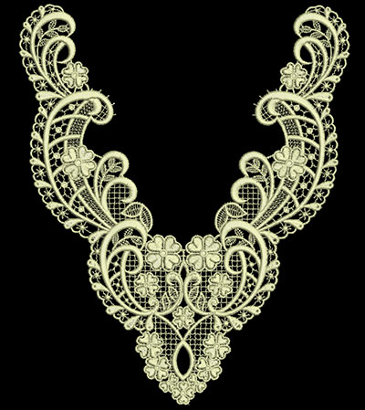Jumbo Vintage Lace 8 embroidery design