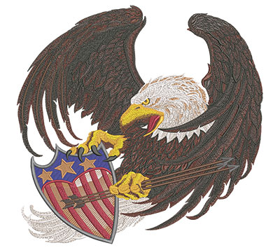 screaming eagle embroidery design