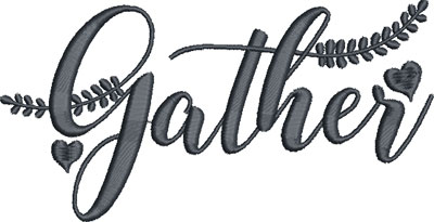 gather embroidery design