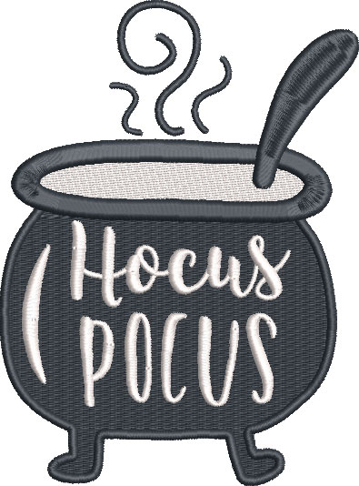 hocus pocus saying embroidery design