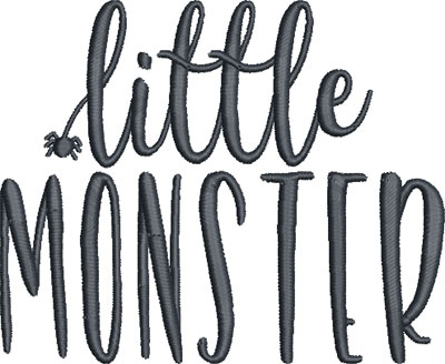 little monster embroidery design