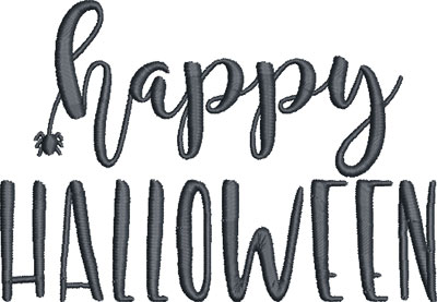 happy halloween saying embroidery design