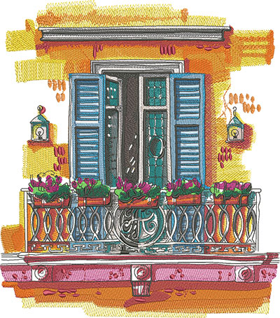 Embroidery Art Window embroidery design
