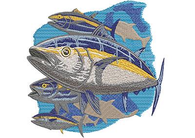 yellow fin tuna embroidery design